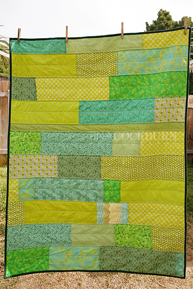 Green quilt small