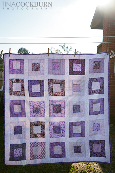 Purple quilt small