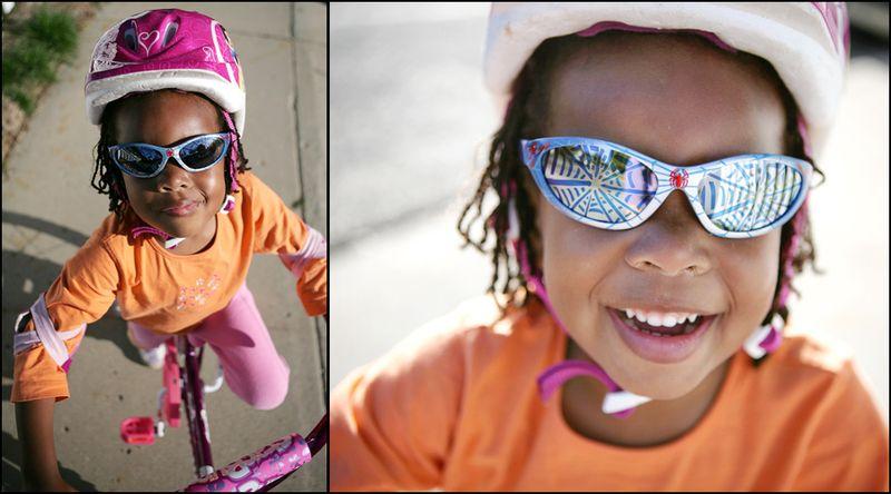 Nadia on bike story