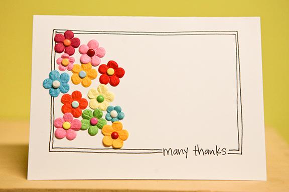 Many thanks sketch card
