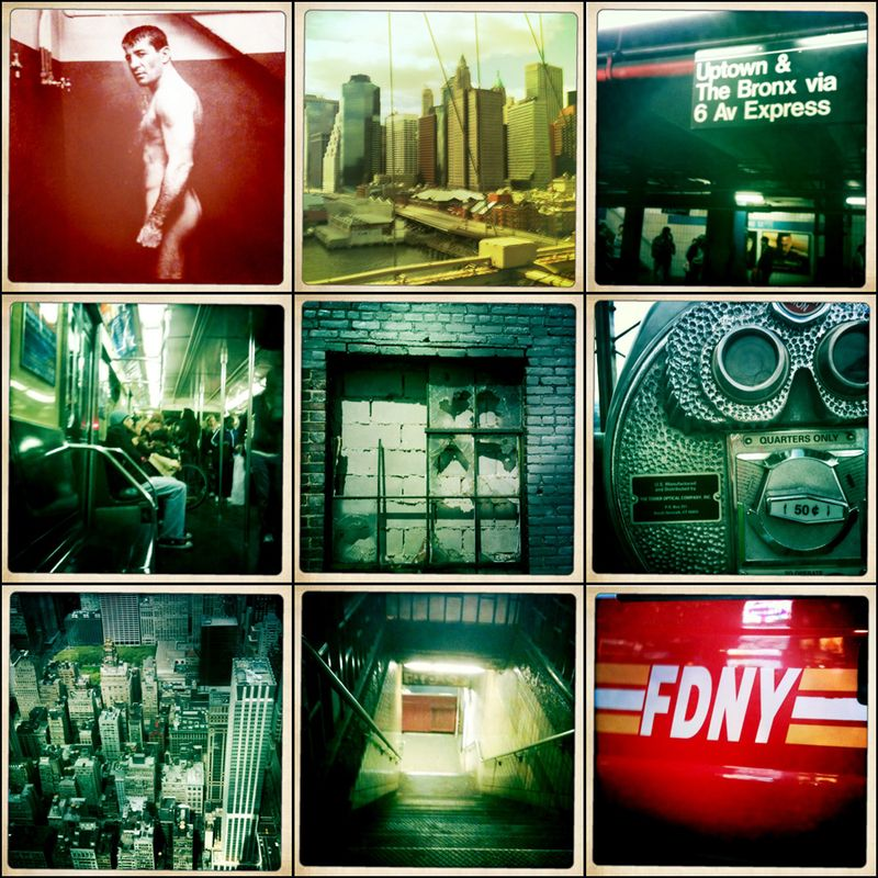 New york hipstamatic photo board